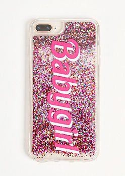 Clear Baby Girl Floating Glitter Phone Case For iPhone 6/7/8 Plus