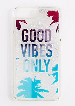 Good Vibes Only Glitter Phone Case for iPhone 7/6 Plus