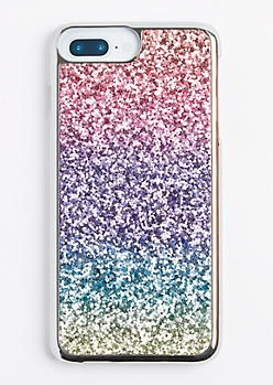 Multi Color Ombre Glitter Phone Case for iPhone 7/6 Plus
