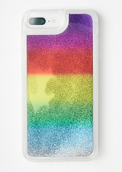 Rainbow Glitter Phone Case For iPhone 6/7/8 Plus