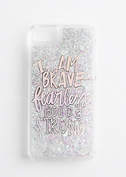 Brave & Strong Glitter Case for iPhone 7/6