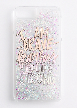 Brave & Strong Glitter Case for iPhone 7/6 Plus