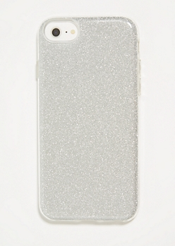 Silver Glitter Phone Case for iPhone 6/6s/7/8