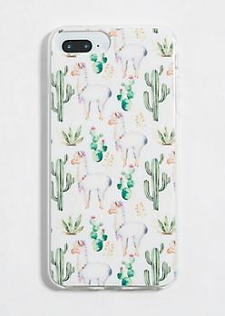 Ivory Llama Phone Case for iPhone 8/7/6 Plus