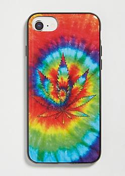 Rainbow Tie Dye Weed Print Phone Case For iPhone 6/6s/7/8