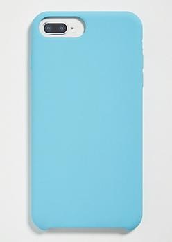 Blue Silicone Phone Case For iPhone 6 Plus/7 Plus/8 Plus