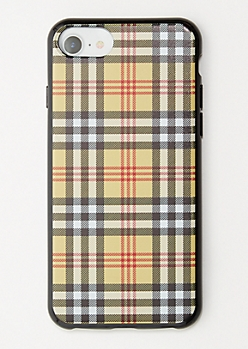 Tan Plaid Print Phone Case for iPhone 6/6s/7/8