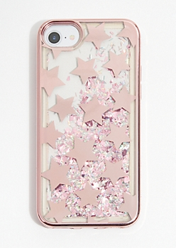 Rose Gold Star Glitter Phone Case for iPhone 6/6s/7/8