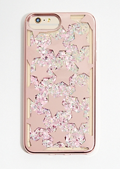 Rose Gold Star Glitter Phone Case for iPhone 6/7/8 Plus