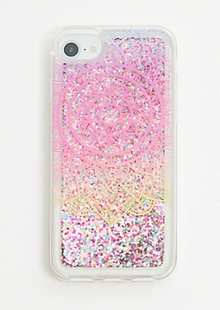 Rainbow Mandala Glitter Phone Case for iPhone 6/6s/7/8