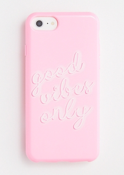 Pink Good Vibes Only Phone Case for iPhone 6/6s/7/8