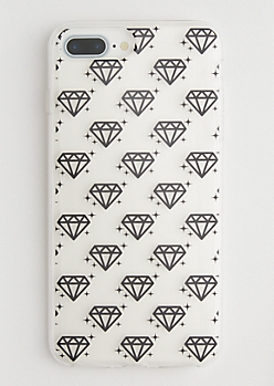 Clear Diamond Phone Case for iPhone 6 Plus/7 Plus/8 Plus