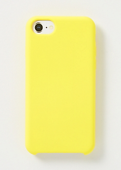 Yellow Silicone Phone Case For iPhone 6/6s/7/8