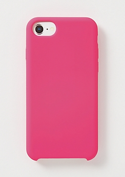 Hot Pink Silicone Phone Case For iPhone 6/6s/7/8