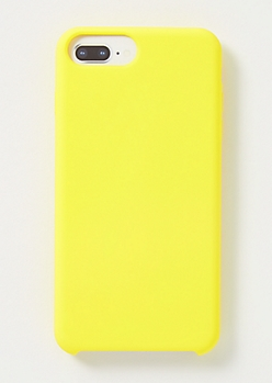 Yellow Silicone Phone Case For iPhone 6/7/8 Plus