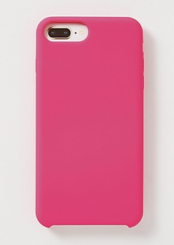 Hot Pink Silicone Phone Case For iPhone 6/7/8 Plus
