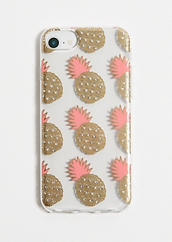 Rhinestone Pineapple Phone Case for iPhone 6/7/8