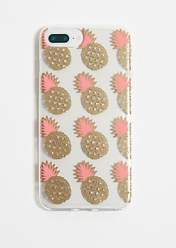 Rhinestone Pineapple Phone Case for iPhone 6/7/8 Plus