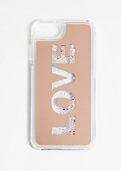 Love Floating Glitter Phone Case for iPhone 6/7/8