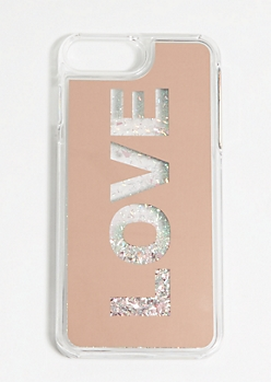 Love Floating Glitter Phone Case for iPhone 6/7/8 Plus