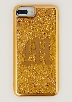 M Gold Glitter Case for iPhone 7/6 Plus