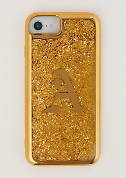 A Gold Glitter Case for iPhone 7/6