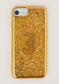 J Gold Glitter Case for iPhone 7/6