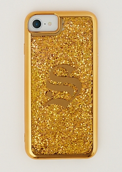 S Gold Glitter Case for iPhone 7/6