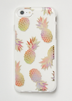 Metallic Pineapple Print Phone Case For iPhone 6/6s/7/8