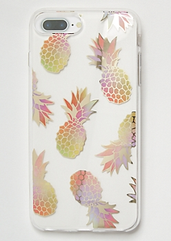 Metallic Pineapple Print Phone Case For iPhone 6/7/8 Plus