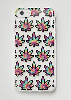 Rainbow Tie Dye Weed Print Phone Case For iPhone 6/6s/7/8