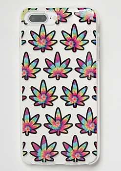 Rainbow Tie Dye Weed Print Phone Case For iPhone 6/7/8 Plus