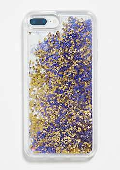 Purple Moon Star Glitter Phone Case for iPhone 6/7/8 Plus
