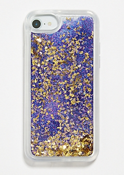 Purple Moon Star Glitter Phone Case for iPhone 6/7/8