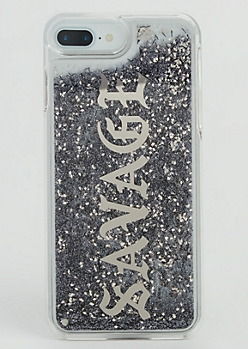 Silver Savage Glitter Case for iPhone 7/6 Plus