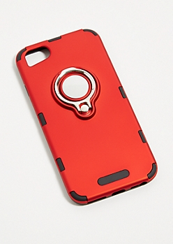 Red Ring Grip Phone Case for iPhone 7/8