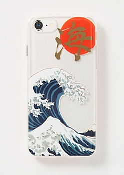 Clear Kanji Waves Phone Case For iPhone 6/6s/7/8