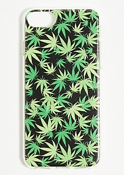 Weed Leaf Print Savage Phone Case for iPhone 6/6s/7/8