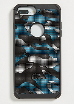 Blue Camo Print Phone Case for iPhone 7/8 Plus