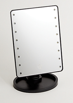 Black LED Light Up Mirror