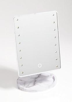 Marble Print LED Vanity Mirror