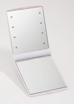 White LED Compact Vanity Mirror