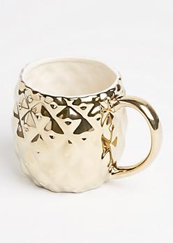 Metallic Gold Pineapple Mug