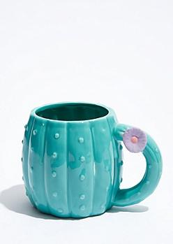Teal Cactus Mug