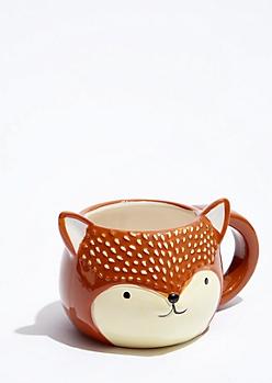 Round Fox Face Mug