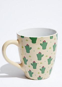 Cactus Print Oversized Mug