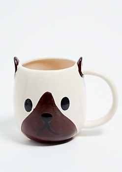 Cream Pug Oversized Mug