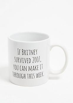 White Britney Oversized Mug