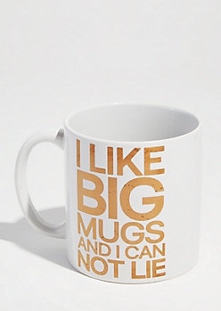 White I Like Big Mugs Oversized Mug