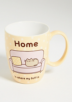 White Birthday Pusheen Cat Ceramic Mug